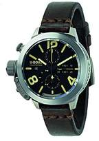 U-Boat Classico 45 Tit/Tung CA. BK Unisex Automatic Watch with Black Dial Chronograph Display and Brown Leather Strap 8061