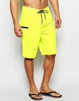 Asos Boardie Swim Shorts In Neon Yellow