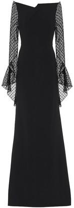 Roland Mouret Hafren crepe and lace gown