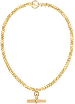Tilly Sveaas Gold-plated T-bar necklace
