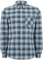 Topman Teal and Grey Check Shirt