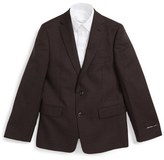 Michael Kors Boy's Check Wool Blazer