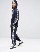 Asos Loungewear Hooded Onesie With Taping