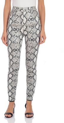 Bagatelle BAGATELLE.NYC Python Faux Leather 5-Pocket Pants