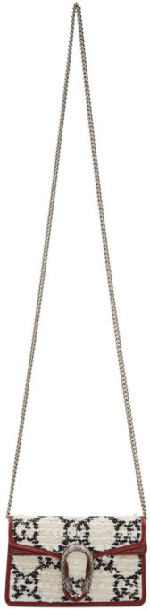Gucci Off-White Tweed Super Mini Dionysus Bag
