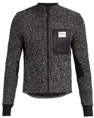 Café Du Cycliste Funnel-neck Fleece Cycling Jacket - Mens - Grey
