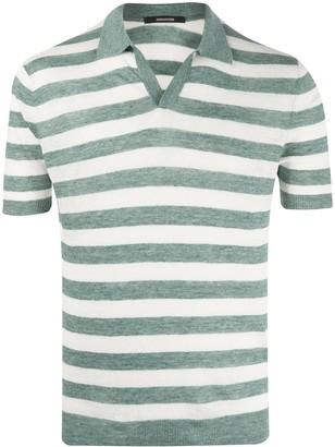 Tagliatore Striped Linen Polo Shirt