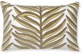 Velvet Vine Applique Lumbar Pillow Cover, Pebble