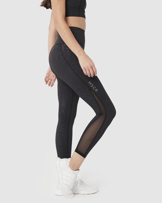 Muscle Republic - Women's Black 7/8 Tights - Breathe CEO 7-8 Leggings - Size One Size, L at The Iconic