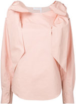 Chloé bow shoulder blouse - women - Cotton - 38