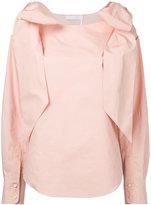Chloé bow shoulder blouse - women - Cotton - 40