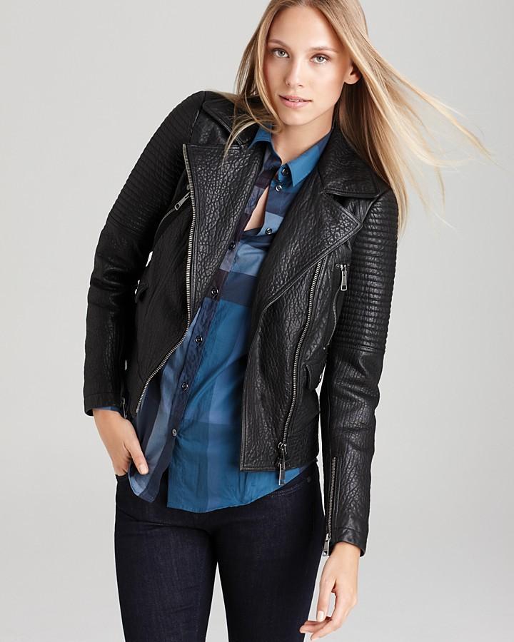 Burberry Edgewcik Leather Motorcycle Jacket