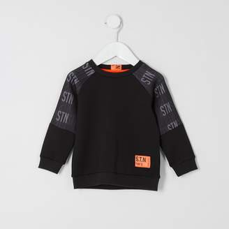 River Island Mini boys RI Active Black STN sweatshirt