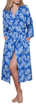 Cyberjammies Maya Floral Print Dressing Gown, Blue