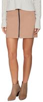 Aubrey Zip Front Mini Skirt