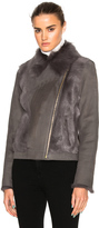 Yves Salomon Toscane Shearling Moto Jacket