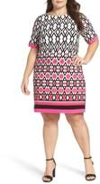 Eliza J Plus Size Women's Graphic Print Shift Dress