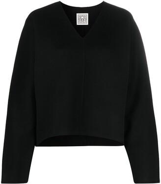 Totême V-neck fine knit jumper
