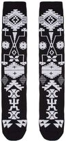 Marcelo Burlon County of Milan Black Melimoyu Socks