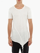 Thom Krom White Asymmetric Hem T-Shirt