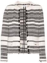 IRO Zlata Striped Cotton-blend Tweed Jacket - Ivory