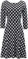 Monochrome Jacquard Polkadot Fit & Flare Dress