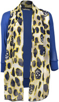 Blue & Yellow Leopard Skull Cardigan