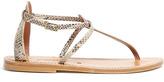 K. Jacques Buffon Python Print Thong Sandals
