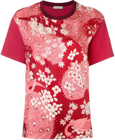 Moncler floral embroidered T-shirt - women - Silk/Cotton - M