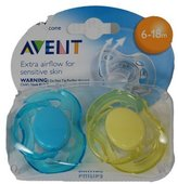 Philips Phillips Avent Freeflow Pacifier 6-18 Months, 2 Pack
