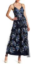 Nicole Miller Floral Print V-Neck Dress