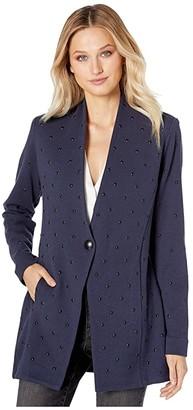 Nic+Zoe Simply Studded Jacket (Dark Indigo) Women's Coat
