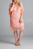 Velzera Lace Gathered Shift-Dress