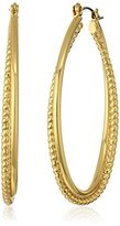 Vera Bradley Mod Elegance Coil Gold-Tone Hoop Earrings