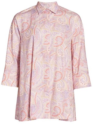 Max Mara Glauco Paisley Cotton Poplin Shirt