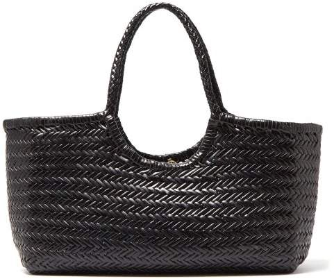 575586bed2 Diffusion - Nantucket Large Woven Leather Tote Bag - Womens - Black