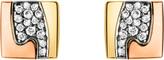 Georg Jensen Fusion pavé-set 18ct gold stud earrings