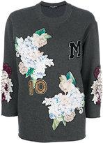 Dolce & Gabbana hydrangea appliqué sweatshirt - women - Cotton - 40