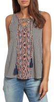 Women's Thml Tassel Tie Stripe Top