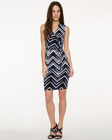 Le Château Chevron Knit Faux-Wrap Dress