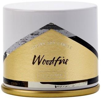 Illume Demi Vanity Tin Candle Woodfire
