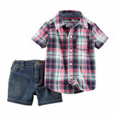 Carter's Boys 2-pc. Short Sleeve Pant Set-Baby