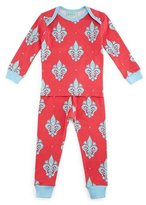 BedHead French Quarter Pajama Shirt & Pants, Pink/Blue, Size 3-24 Months