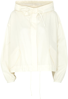 Jil Sander Off-white logo-print cotton poplin jacket