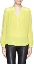 DIANE VON FURSTENBERG Half placket silk chiffon blouse