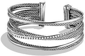 David Yurman Women's Crossover Cuff Bracelet with Diamonds
