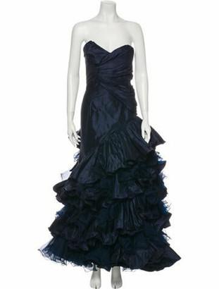 Oscar de la Renta 2011 Long Dress Blue