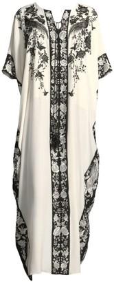 Natori Peaceful Petals Silk Nightgown