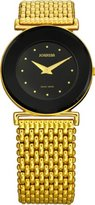 Jowissa Women's J3.022.M Elegance Gold PVD Black Dial Watch
