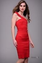 Jovani One-Shoulder Bandage Knee-Length Dress M626